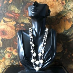 🔥 Vintage Double Strand Pearl Necklace